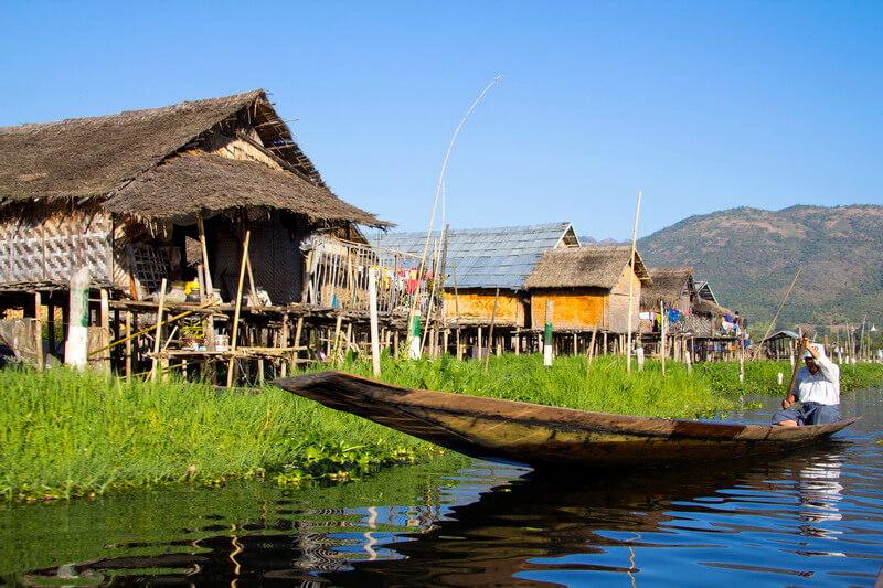 Maing Thauk village in Inle Lake